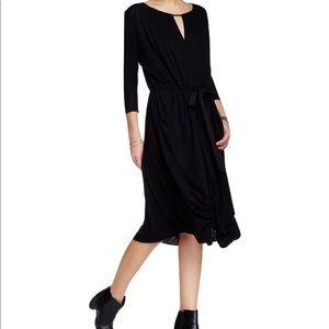 NWT Free People Black Linen Dress, size medium